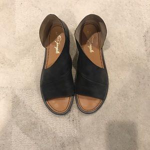 Free People Monte Blanc Sandals, size 8–Black